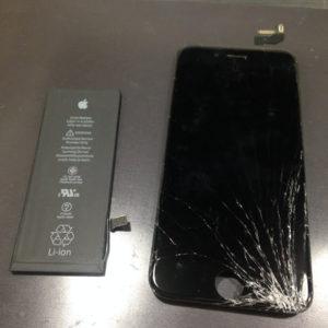 アイフォン6sパネルとバッテリー