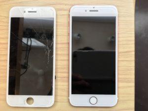 iphone7画面ひび割れ