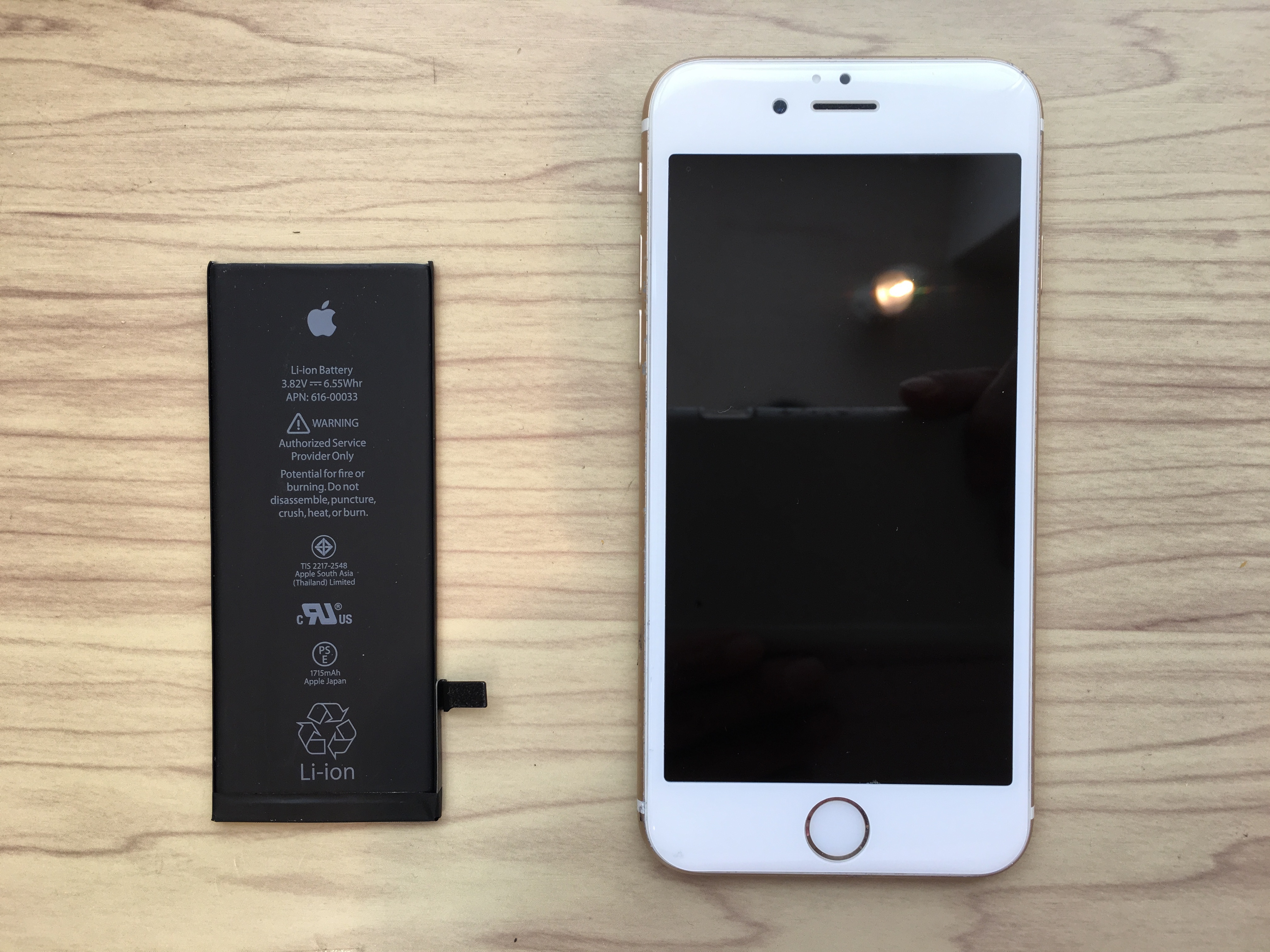 iphone6のバッテリ