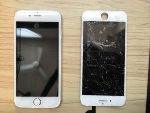iphone6ホワイト画面バリバリ
